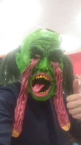 Me just before putting a Halloween mask on!